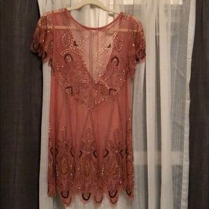 Free People Embroidered Shear Dress